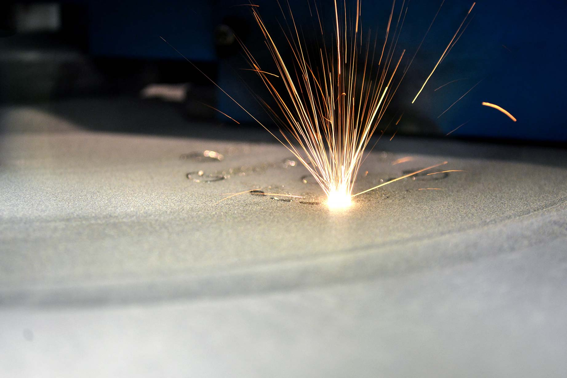 Laser sintering metal prototyping